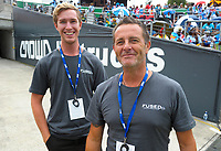 Event staff. Day one of the 2018 HSBC World Sevens Series Hamilton at FMG Stadium in Hamilton, New Zealand on Saturday, 3 February 2018. Photo: Dave Lintott / lintottphoto.co.nz