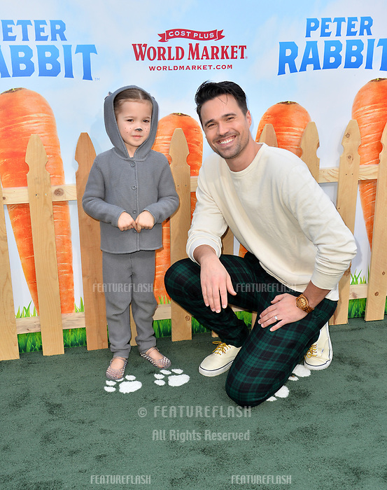 Brett Dalton &amp; Sylvia Dalton at the world premiere for &quot;Peter Rabbit&quot; at The Grove, Los Angeles, USA 03 Feb. 2018<br /> Picture: Paul Smith/Featureflash/SilverHub 0208 004 5359 sales@silverhubmedia.com