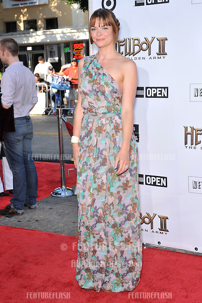 "Jaime King at the world premiere of ""Hellboy II The Golden Army"" at Mann Village Theatre, Westwood..June 28, 2008  Los Angeles, CA.Picture: Paul Smith / Featureflash"