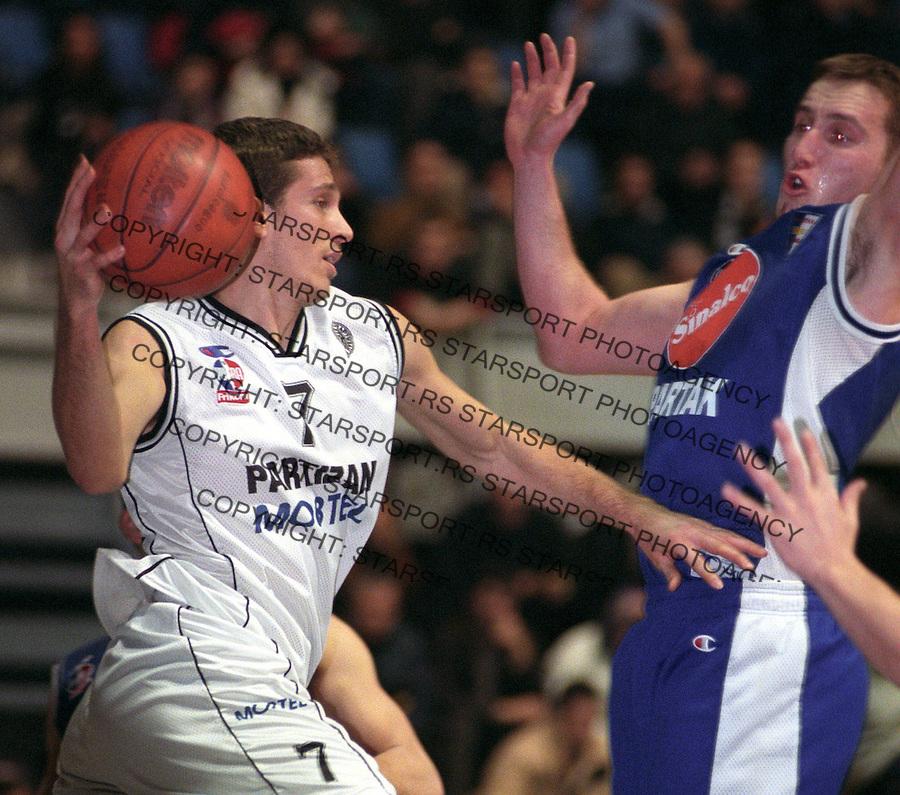 SPORT KOSARKA PARTIZAN - SPARTAK SUBOTICA&amp;#xA;Dusan Kecman&amp;#xA;jan. 2003.&amp;#xA;foto: Pedja Milosavljevic<br />