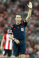 Spanish referee Gonzalez Gonzalez during Supercup of Spain 1st match.August 14,2015. (ALTERPHOTOS/Acero)