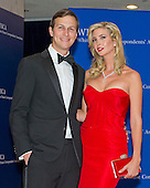 Jared Kushner, chairman of Observer Media Group, left, and Ivanka Trump, executive vice president of development and acquisitions at Trump Organization LLC arrive for the 2015 White House Correspondents Association Annual Dinner at the Washington Hilton Hotel on Saturday, April 25, 2015.<br /> Credit: Ron Sachs / CNP