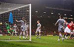 Chris Smalling of Manchester United scores the opening goal - Manchester United vs. Burnley - Barclay's Premier League - Old Trafford - Manchester - 11/02/2015 Pic Philip Oldham/Sportimage