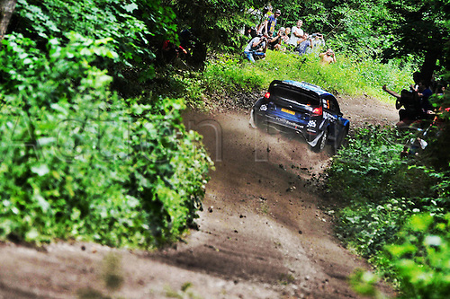 02.07.2016. Mikolajki, Poland. WRC Rally of Poland, stages 12-17.  Mads Ostberg (NOR) – Ola Floene (NOR) - Ford Fiesta RS WRC