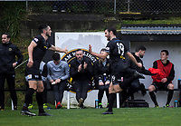 Team Wellington's Ross Allen is subbed off during the Oceania Football Championship final (first leg) football match between Team Wellington and Lautoka FC at David Farrington Park in Wellington, New Zealand on Sunday, 13 May 2018. Photo: Dave Lintott / lintottphoto.co.nz