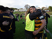 Bombay players celebrate their 5th Championship in the last 6 years. Counties Manukau Premier 1 McNamara Cup Final between Ardmore Marist and Bombay, played at Navigation Homes Stadium on Saturday July 20th 2019.<br />  Bombay won the McNamara Cup for the 5th time in 6 years, 33 - 18 after leading 14 - 10 at halftime.<br /> Photo by Richard Spranger.