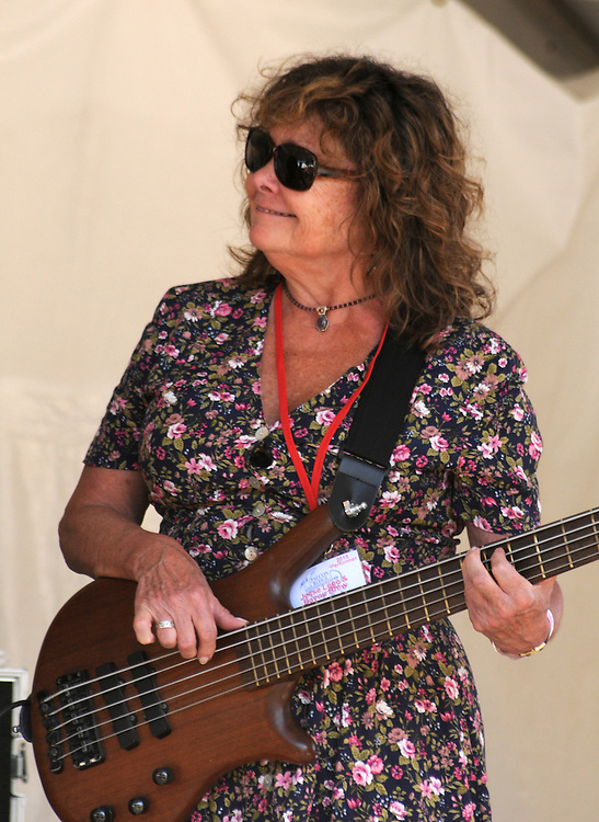 Evelyn Schneider of Jesse Lege & Bayou Brew performing on the Main Stage at the Falcon Ridge Folk Festival, held on Dodd's Farm in Hillsdale, NY on Saturday, August 1, 2015. Photo by Jim Peppler. Copyright Jim Peppler 2015.
