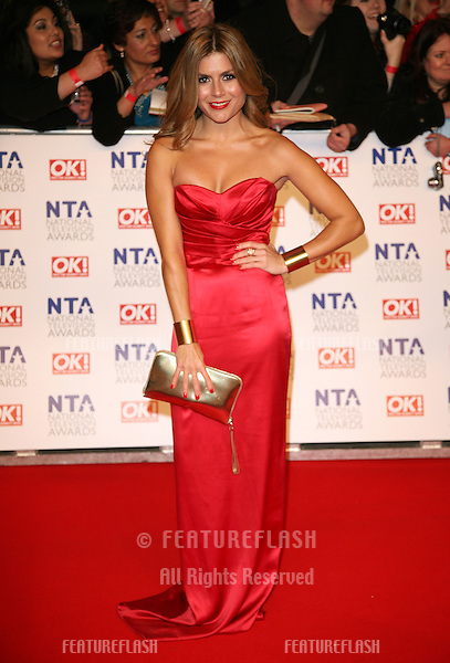 Tamaryn Payne arriving for the National Television Awards, O2, London. 25/01/2012 Picture by: Alexandra Glen / Featureflash