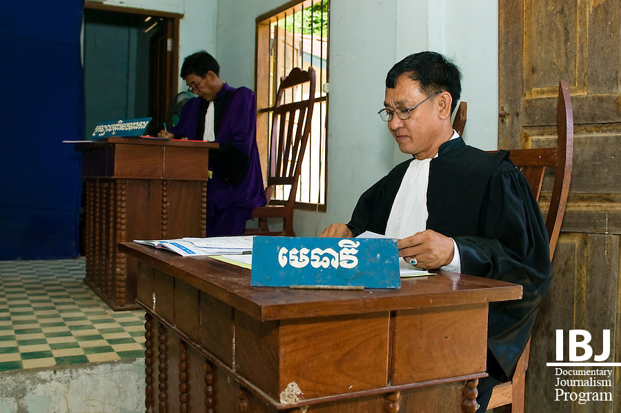 Ouk Vandeth during a trial in Kampong Province.