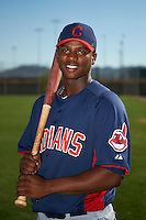 Cleveland Indians minor league shortstop Dorssys Paulino #13 poses for a photo after an instructional league game against the Cincinnati Reds at the Goodyear Training Complex on October 8, 2012 in Goodyear, Arizona.  (Mike Janes/Four Seam Images)