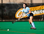 25 October 2009: Columbia University Lion backfielder Hannah Smith, a Junior from North Vancouver, B.C., in action against the University of Vermont Catamounts at Moulton Winder Field in Burlington, Vermont. The Lions shut out the Catamounts 1-0. Mandatory Credit: Ed Wolfstein Photo