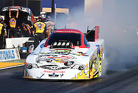 Jul. 25, 2014; Sonoma, CA, USA; NHRA funny car driver Cruz Pedregon during qualifying for the Sonoma Nationals at Sonoma Raceway. Mandatory Credit: Mark J. Rebilas-