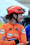 Marianne Vos (NED) on the start line of the Women Elite Road Race of the UCI World Championships 2019 running 149.4km from Bradford to Harrogate, England. 28th September 2019.<br /> Picture: Eoin Clarke | Cyclefile<br /> <br /> All photos usage must carry mandatory copyright credit (© Cyclefile | Eoin Clarke)
