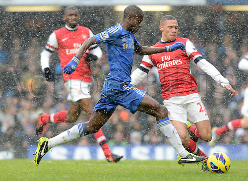 20.01.2013 London, England. Ramires of Chelsea in action during the Premier League game between Chelsea and Arsenal at Stamford Bridge.