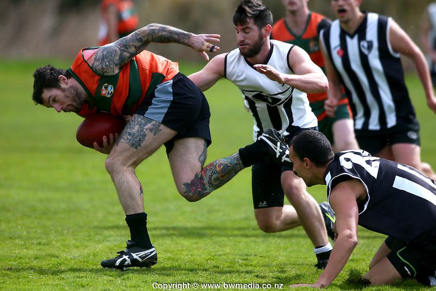 NZ AFL, 15 October 2015. Onepoto Domain, Auckland. Photo: Simon Watts/bwmedia.co.nz<br /> © www.bwmedia.co.nz