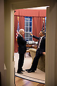 United States President Barack Obama talks with Vice President Joe Biden in the Oval Office, March 5, 2013. .Mandatory Credit: Pete Souza - White House via CNP