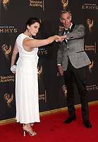 LOS ANGELES, CA - SEPTEMBER 09: Rachel Bloom, Bill Nye, at the 2017 Creative Arts Emmy Awards at Microsoft Theater on September 9, 2017 in Los Angeles, California. <br /> CAP/MPIFS<br /> &copy;MPIFS/Capital Pictures