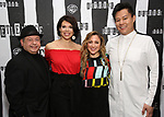 Danny Rutigliano, Jill Abramovitz, Dana Steingold and Kelvin Moon Loh attends Broadway's 'Beetlejuice' - First Look Photo Call at Subculture  on February 28, 2019 in New York City.