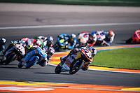 VALENCIA, SPAIN - NOVEMBER 8: Brad Binder during Valencia MotoGP 2015 at Ricardo Tormo Circuit on November 8, 2015 in Valencia, Spain