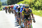 The peloton in action during Stage 5 of the Criterium du Dauphine 2017, running 175.5km from La Tour-de Salvagny to Macon, France. 8th June 2017. <br /> Picture: ASO/A.Broadway | Cyclefile<br /> <br /> <br /> All photos usage must carry mandatory copyright credit (&copy; Cyclefile | ASO/A.Broadway)