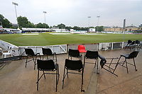 General view of the ground as rain delays play during Essex CCC vs Middlesex CCC, Specsavers County Championship Division 1 Cricket at The Cloudfm County Ground on 27th June 2017