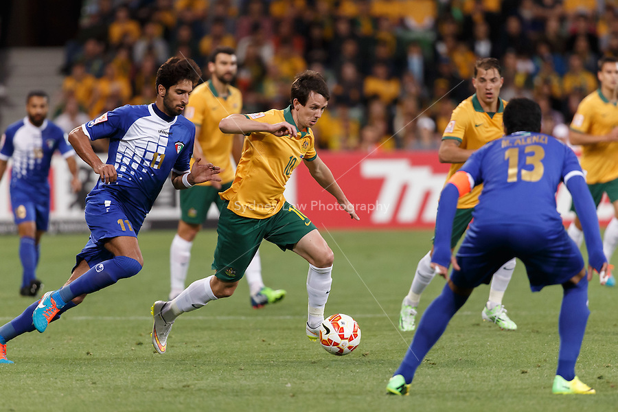 Robbie KRUSE of Australia controls the ball in match 1 of the 2015 AFC Asian Cup at the Melbourne Rectangular Stadium on 9 January 2015. Australia def Kuwait 4-1