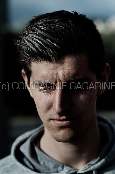 Belgian football player Thibaut Courtois in Madrid (Spain, 31/01/2014)