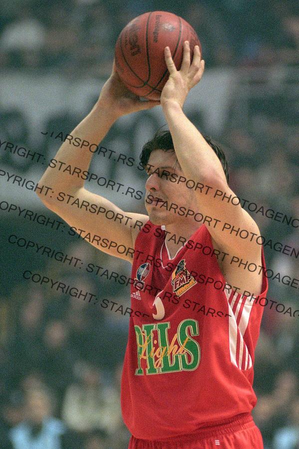 SPORT KOSARKA FMP ZELEZNIK&amp;#xA;Veselin Petrovic&amp;#xA;14.12.2002.&amp;#xA;foto: Pedja Milosavljevic<br />