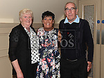 Linda Courtney celebrating her 50th birthday in the Thatch with dad Ollie O'Reilly and his partner Betty Seerey. Photo:Colin Bell/pressphotos.ie