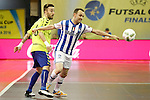 Pescara's Grello (r) and Inter FS's Mario Rivillos during UEFA Futsal Cup 2015/2016 Semifinal match. April 22,2016. (ALTERPHOTOS/Acero)