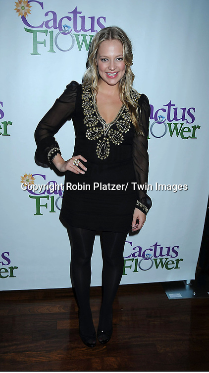 "Jenni Barber attending the Opening night party for .""Cactus Flower"" on March 10, 2011 at B Smith's Restaurant. The show stars Lois Robbins, Maxwell Caulfield and Jenni Barber."