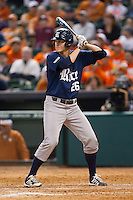 Blake Fox #26 of the Rice Owls at bat against the Texas Longhorns at Minute Maid Park on February 28, 2014 in Houston, Texas.  The Longhorns defeated the Owls 2-0.  (Brian Westerholt/Four Seam Images)
