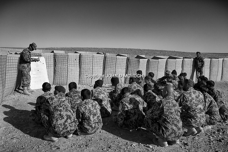 Afghan National Army soldiers take part in ambush training at the Regional Training Centre in Helmand, 11 Nov 2012. (John D McHugh)