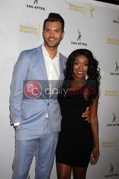 A.J. Gibson, Porscha Coleman<br /> at the Dynamic &amp; Diverse:  A 66th Emmy Awards Celebration of Diversity Event, Television Academy, North Hollywood, CA 11-12-14<br /> David Edwards/DailyCeleb.com 818-249-4998
