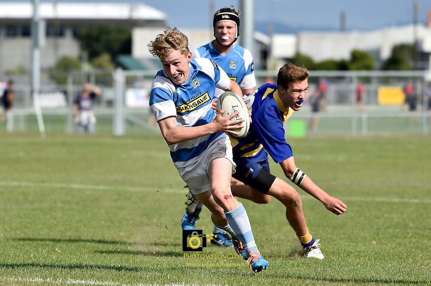 College Rugby - Hope Cup at Fraser Park,  Lower Hutt, New Zealand on Friday 22 April 2016. <br /> Photo by Masanori Udagawa. <br /> www.photowellington.photoshelter.com.