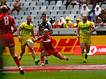 Luke Trehame, Day 1 at Cape Town 7s for HSBC World Rugby Sevens Series 2018, Cape Town, South Africa - Photos Martin Seras Lima