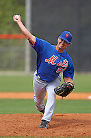 New York Mets pitcher Greg Peavey #89 during a minor league spring training intrasquad game at the Port St. Lucie Training Complex on March 27, 2012 in Port St. Lucie, Florida.  (Mike Janes/Four Seam Images)