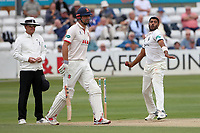 Jeetan Patel in bowling action for Warwickshire during Essex CCC vs Warwickshire CCC, Specsavers County Championship Division 1 Cricket at The Cloudfm County Ground on 15th July 2019