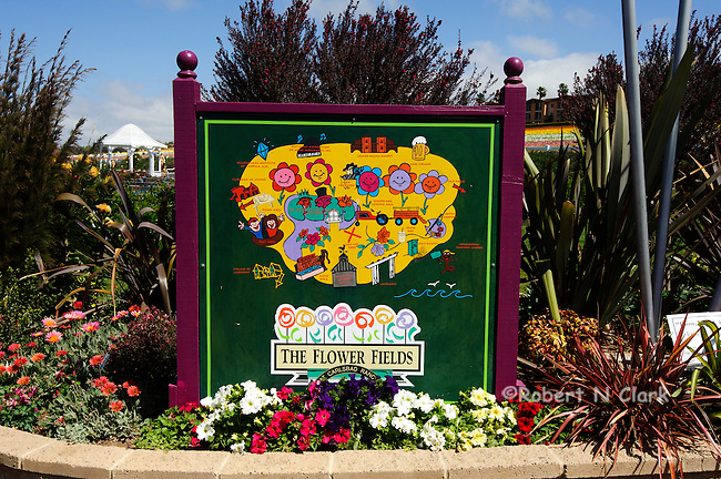 Flower Fields, Carlsbad, Calfiornia, entrance area