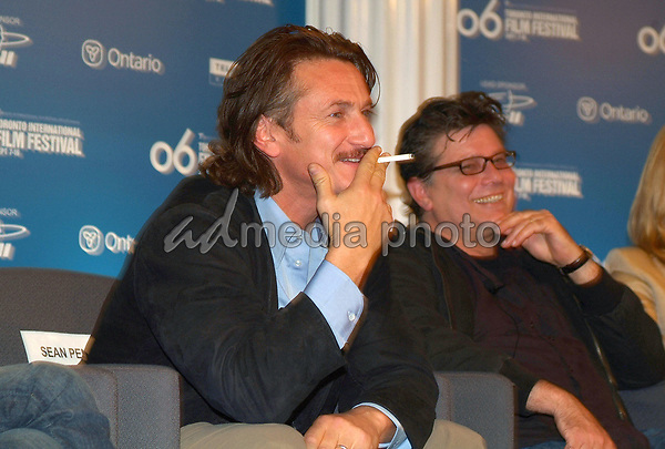 "10 September 2006 - Toronto, Ontario, Canada - Sean Penn. ""All The Kings Men"" Press Conference during the 2006 Toronto International Film Festival held at Sutton Place Hotel. Photo Credit: Brent Perniac/AdMedia"