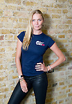 JODIE KIDD, REPRESENTING &quot;WINGS FOR LIFE&quot; WORLD RUN, A CHARITY RACE TO RAISE FUNDS FOR SPINAL CORD INJURY RESEARCH.<br /> THE GLOBAL RACE WILL BE ON MAY 4TH 2014.<br /> AT RED BULL HQ, LONDON.<br /> 12-2-2014 PIC BY IAN MCILGORM