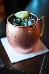 The signature drink, the Moscow Mule, at the 41st Street Pub and Aircraft Sales, a bar in the Avondale neighborhood in Birmingham, Alabama