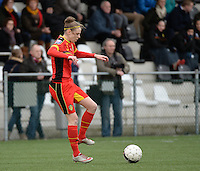 20140208 - OOSTAKKER , BELGIUM : Belgian Lorca Van De Putte pictured during a friendly soccer match between the women teams of Belgium and Poland , Saturday 8 February 2014 in Oostakker. PHOTO DAVID CATRY