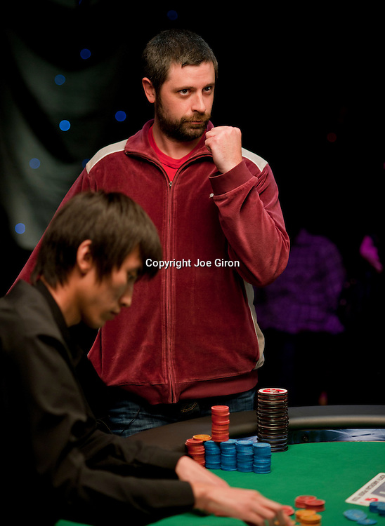 Justin Young pumps his fist when he hears he has won the most bounties.