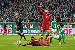 01.12.2018, Weser Stadion, Bremen, GER, 1.FBL, Werder Bremen vs FC Bayern Muenchen, <br /> <br /> DFL REGULATIONS PROHIBIT ANY USE OF PHOTOGRAPHS AS IMAGE SEQUENCES AND/OR QUASI-VIDEO.<br /> <br />  im Bild<br /> Serge Gnabry (FC Bayern Muenchen #22)<br /> Thomas M&uuml;ller / Mueller (FC Bayern Muenchen #25)<br /> Nuri Sahin (Werder Bremen #17)<br /> <br /> <br /> Foto &copy; nordphoto / Kokenge