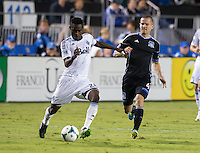 Santa Clara, California -Saturday, September 14, 2013: San Jose Earthquakes and Vancouver Whitecaps tied 0 - 0 at Buck Shaw Stadium.