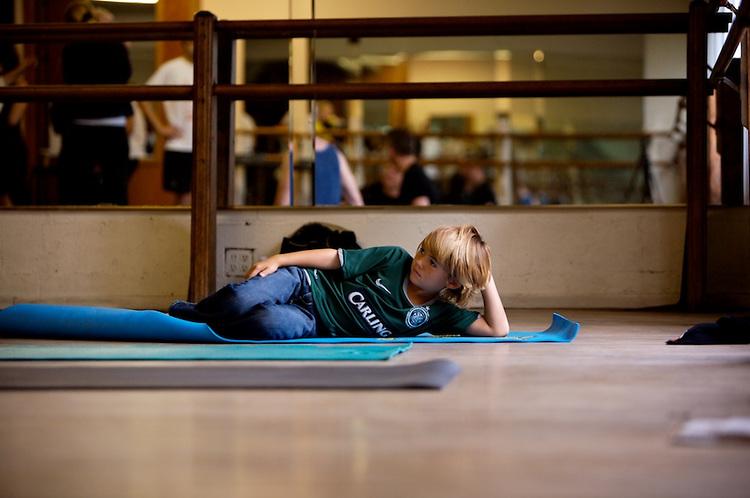 Yoga class with Marc Holzman from guerillayogala.com.