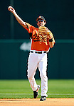 9 March 2007: Baltimore Orioles infielder Chris Gomez warms up prior to facing the Washington Nationals at Fort Lauderdale Stadium in Fort Lauderdale, Florida. <br /> <br /> Mandatory Photo Credit: Ed Wolfstein Photo