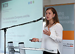 """Belgium, Brussels - April 16, 2015 -- European Dialogue 2015: 'Prosperity in Europe (only if we stop the growing inequality)', jointly held by Hans Böckler Foundation and ETUI (European Trade Union Institute) at 'The Hotel'; here, Workshop 2: Strong worker participation – competitive, sustainable companies / Worker participation as a component of sustainable corporate governance in Europe; <br /> Anne-Marie Kortas, research fellow of the """"Inequality and Social Policy"""" unit, Berlin Social Science Center (WZB) -- Photo © HorstWagner.eu"""