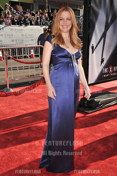 "Gillian Anderson at the world premiere of her new movie ""The X-Files: I Want To Believe"" at Grauman's Chinese Theatre, Hollywood..July 23, 2008  Los Angeles, CA.Picture: Paul Smith / Featureflash"